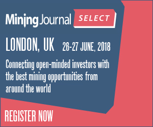 Mining Journal Select Event, 26-27 June 2018